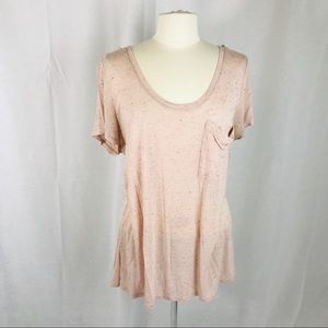 Mossimo XXL Scoop Neck Pink Tee